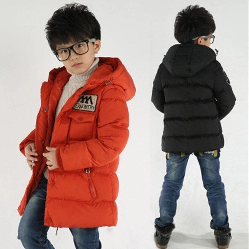 New Winter Clothing Boys 4 Keep Warm 6 Children 8 Autumn Hooded 10 Coat 12 Middle Aged 14 Year 15 Pile Thicker Cotton Jackets 1