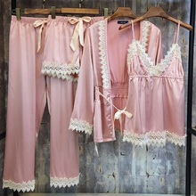 Pajama-Suit Lace Silk Sexy Summer Ladies New Winter Comfort And Fashion Soft Spring Wearable