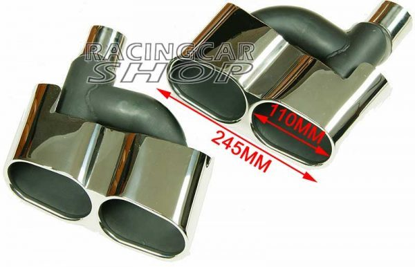 S65 AMG STYLE CHROME QUAD EXHAUST MUFFLER TIPS PIP 1PAIR for Mercedes Benz W221 S-Class M114W 6