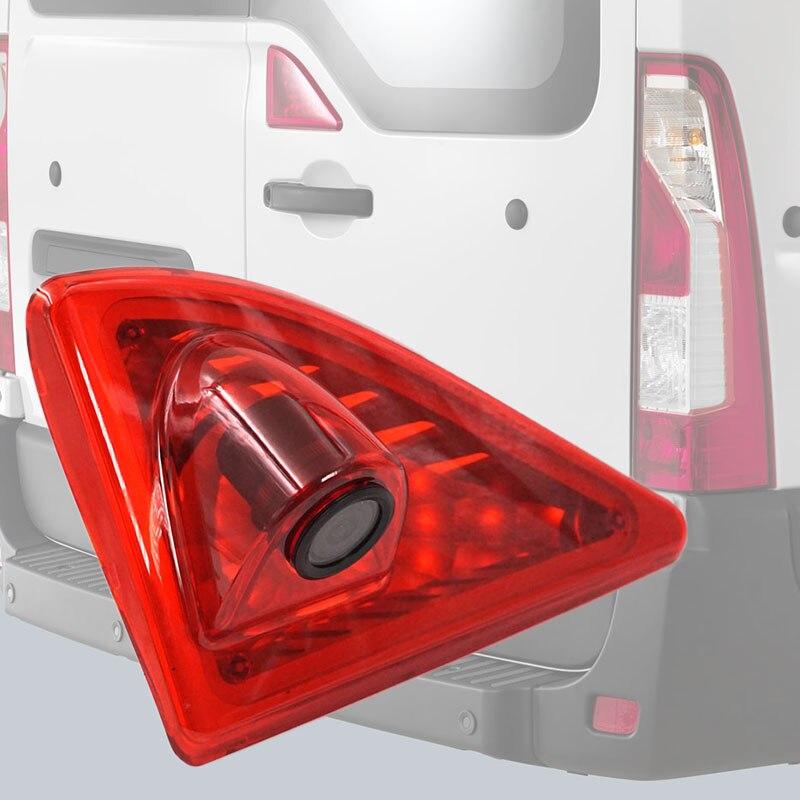 Otomobiller ve Motosikletler'ten Araç Kamerası'de 12V araba fren lambası arka görüş kamerası ters yedekleme 3RD gece görüş park için 2010 2016 ana/ nissan NV400/Opel Movano title=
