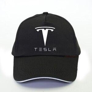 fashion Brand car tesla Baseball Cap Men Snapback Cap For man women unisex Tesla Baseball Caps For Men car fans hats(China)