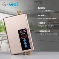 5500W Electric Water Heater Kitchen Bathroom Hot Shower Water Heater Instant Intelligent Speed Hot Calentador De Agua