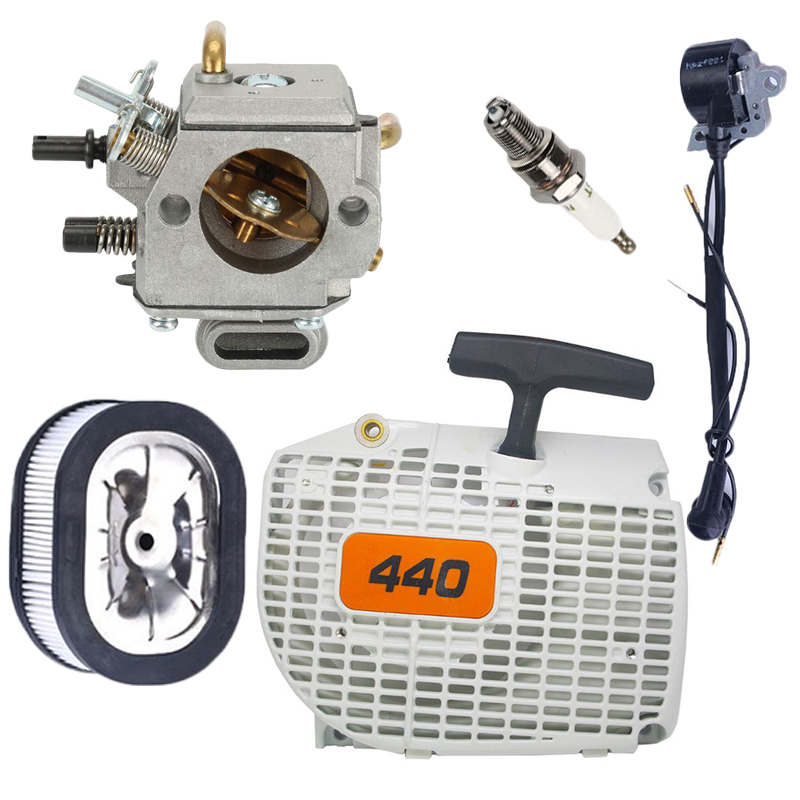 Hot 1 Set Of Carburetor Recoil Starter Air Filter Spark Plug Ignition Coil Kit Uitable For Stihl 044 046 MS440 MS460 Chainsaw in Tool Parts from Tools