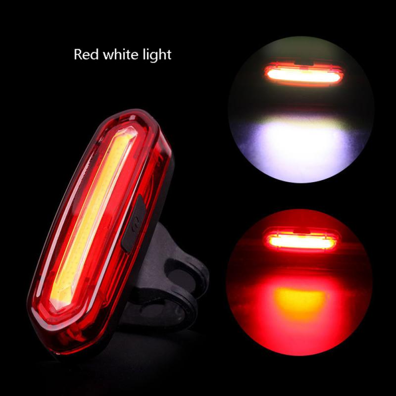Outdoor Bicycle Light USB Charging Waterproof Safety Cycling Taillight LED Rear Light Night Riding Safety Warning Bike TailLight