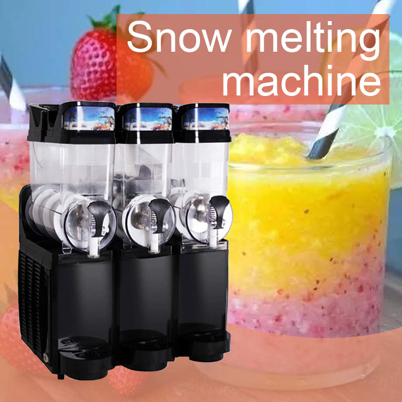 220V/830W Commercial Snow Melting Machine Three-cylinder Large Capacity Snow Mud Machine Beverage Machine Cold Drink Machine