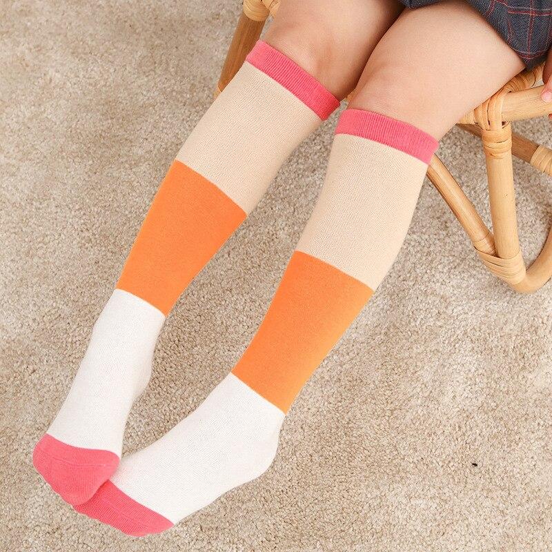 Хлопковые детские носки для девочек и мальчиков до колена летние