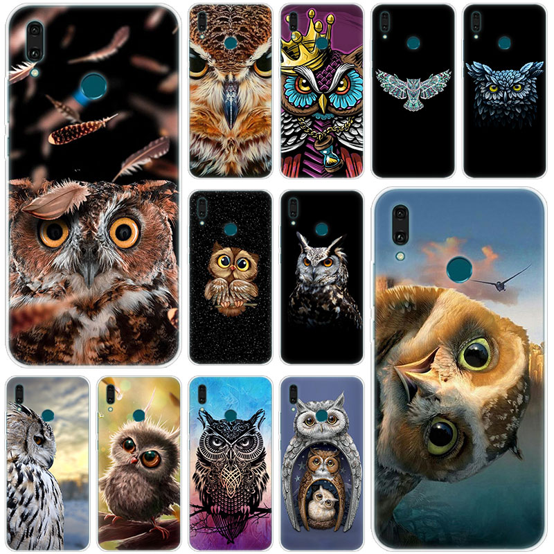Hot Cute animal owl <font><b>Silicone</b></font> Phone <font><b>Case</b></font> for <font><b>Huawei</b></font> Mate 30 20 10 Lite Pro Y9 Y7 <font><b>Y6</b></font> Prime Y5 2019 2018 Pro <font><b>2017</b></font> Fashion Cover image