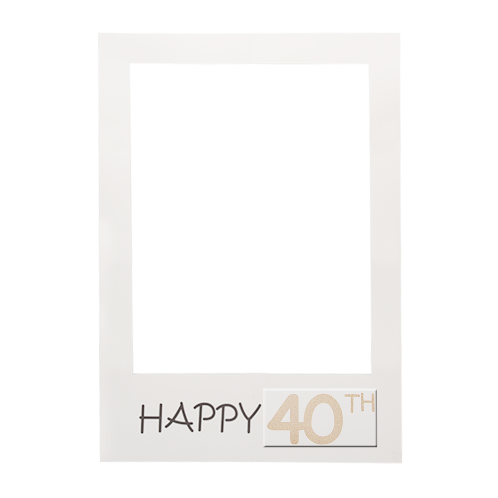 Happy 1/16/18/<font><b>30</b></font>/35/<font><b>40</b></font>/50/60th Paper <font><b>Photo</b></font> Booth Props <font><b>Photo</b></font> <font><b>Frame</b></font> Anniversary <font><b>30</b></font> years Birthday Decorations Party Gift Supplies image
