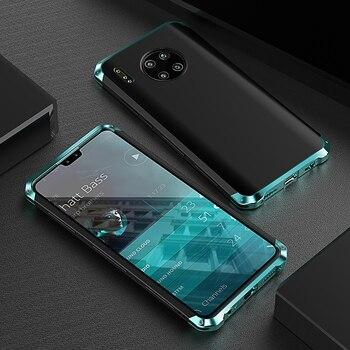 Перейти на Алиэкспресс и купить Роскошный ударопрочный металлический корпус для Huawei Mate 30/ 20/ Pro, тонкий жесткий алюминиевый и гибридный ПК чехол для Huawei Mate 20X5g