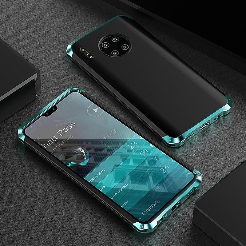 Роскошный ударопрочный металлический корпус для Huawei Mate 30/ 20/ Pro, тонкий жесткий алюминиевый и гибридный ПК чехол для Huawei Mate 20 X 5g|Специальные чехлы|   | АлиЭкспресс