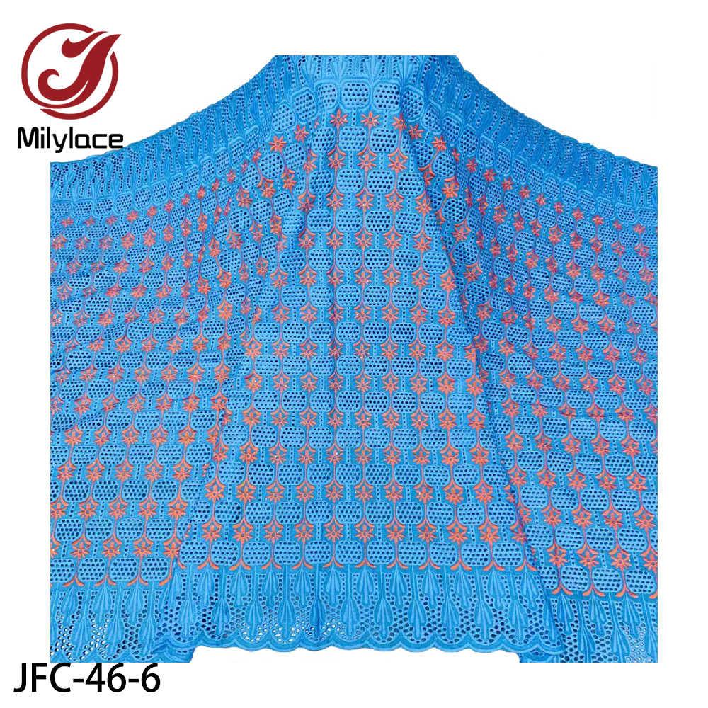 Африканская Хлопковая сухая кружевная ткань с камнями 2020 Высококачественная вышитая швейцарская вуаль кружева в Швейцарии для вечеринки