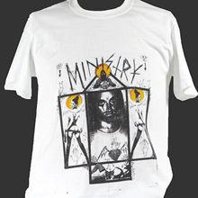 MINISTRY INDUSTRIAL METAL ROCK T-SHIRT kmfdm revolting cocks S M L XL 2XL 3XL Fashion T-Shirt Tee top tee