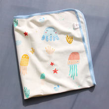 90×120 CM Pure cotton baby urine pad washable breathable waterproof aunt mattress baby cartoon bed sheet diaper pad(China)