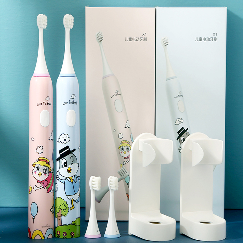 Mmmyc X1 Children's Sonic Electric Toothbrush Soft Fur Design To Protect teeth Can Be Washed Whole Body USB Charging