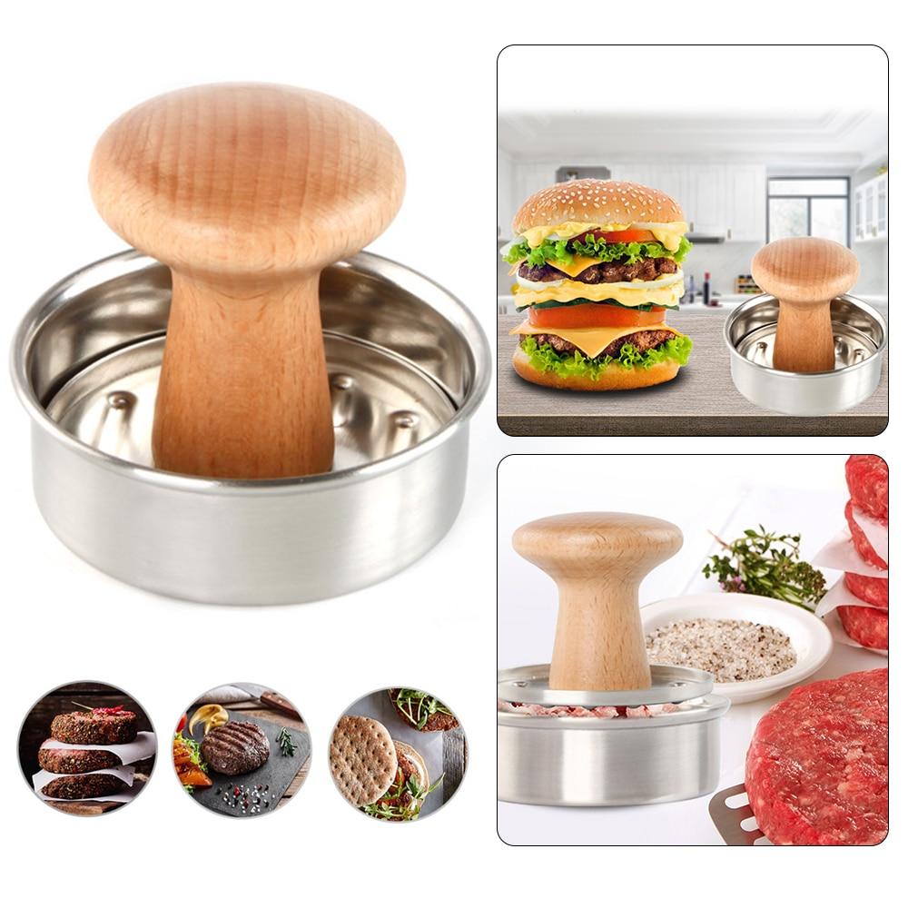 Форма для гамбургеров со съемной ручкой, круглый пресс для бургеров из нержавеющей стали, устойчивая эргономичная форма для мяса|Пресс для гамбургера| | АлиЭкспресс