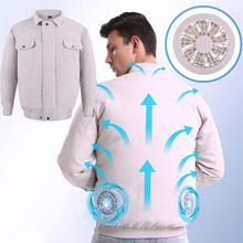 New Adjustable Summer Cooling  Clothes with Fan Clothes USB Charging Fan Clothes Welding Cold Clothes Outdoor Fishing Clothes man cooling coat summer cold fan air conditioning clothes thick outdoor high temperature welding work clothes