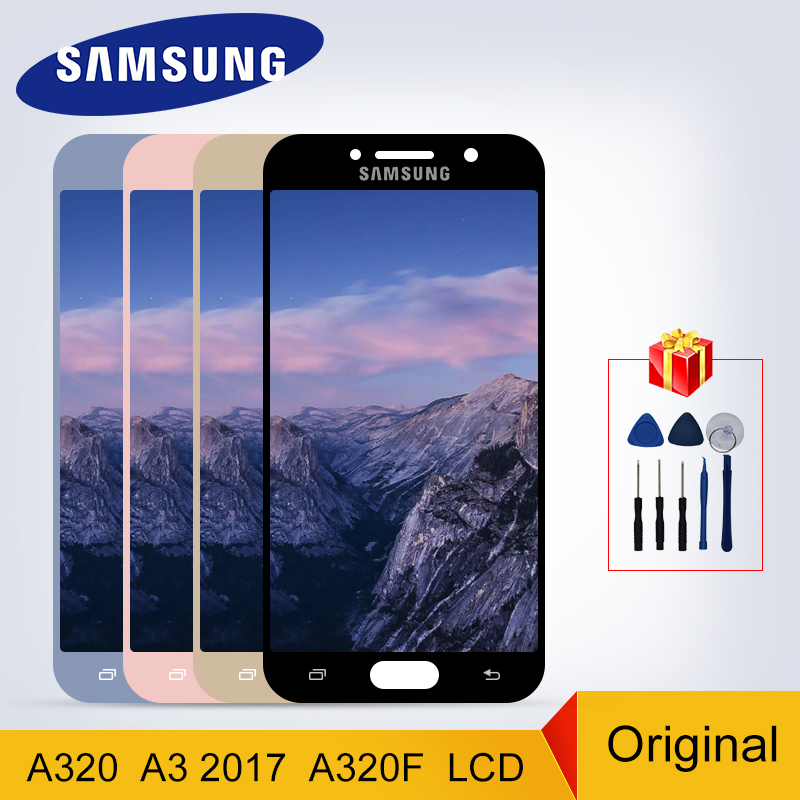 A320 Display Original For <font><b>Samsung</b></font> <font><b>Galaxy</b></font> <font><b>A3</b></font> 2017 A320 <font><b>LCD</b></font> Touch Screen Digitizer Display A320M A320F Replacement Parts image