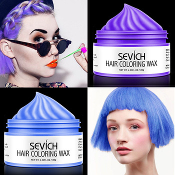 Fashion 8 Color Temporary Hair Color Wax Dye DIY Molding Mud Paste Salon Silver Grey Women Men Hair Styling Color Cream TSLM2 immetee new product hair color wax for men