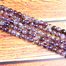 Purple Ghost Natural Stone Bead Round Loose Spaced Beads 15 Inch Strand 4/6/8 / 10mm For Jewelry Making DIY Bracelet Necklace