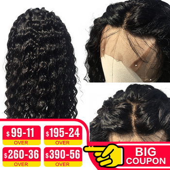 EMOL 13x4 Lace Front Human Hair Wigs With Baby Hair Indian Deep Wave Remy Human Hair 150% Lace Front Wigs For Women