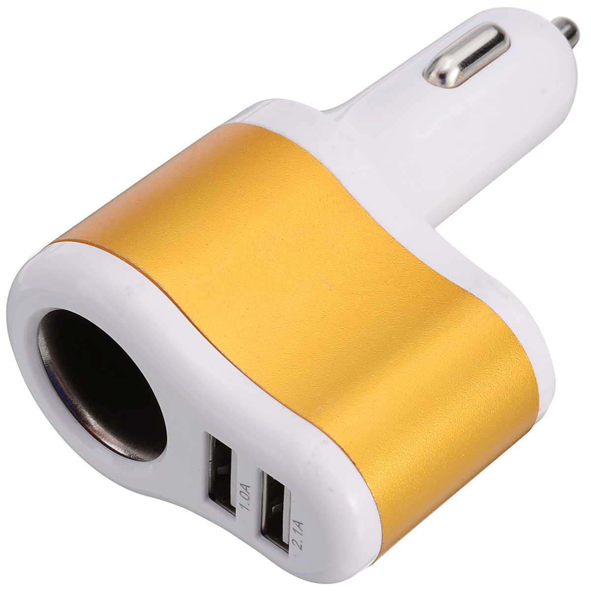 High Quality 3.1A Dual 2 USB Car Charging Cigarette Lighter Power Socket Adapter Splitter Auto Interior Charger for Cell Phone