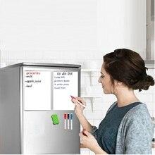 цена Smart Reminder Home Fridge Sticker Magnetic Message Whiteboard Marker Pen Sponge Flexible White Board Presentation Board Magnets онлайн в 2017 году