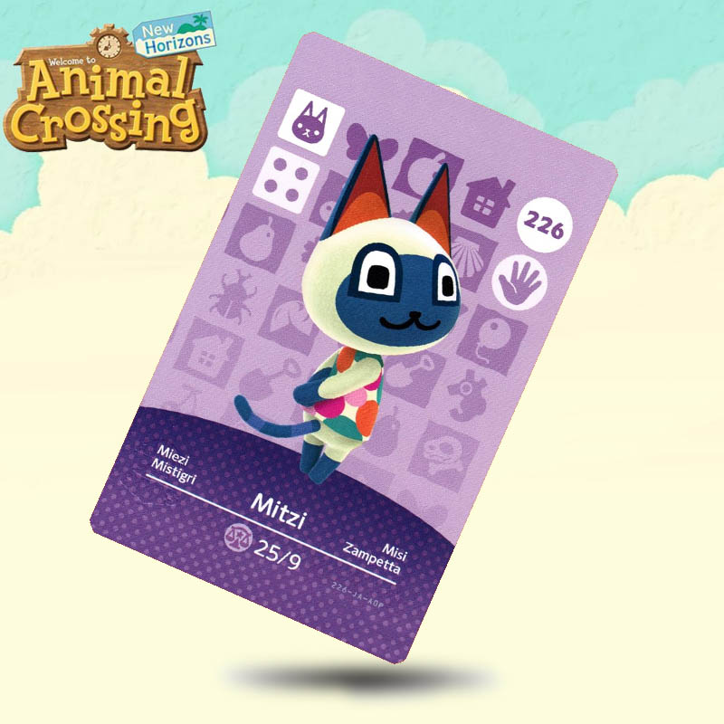 226 Mitzi Animal Crossing Card Amiibo Cards Work For Switch NS 3DS Games