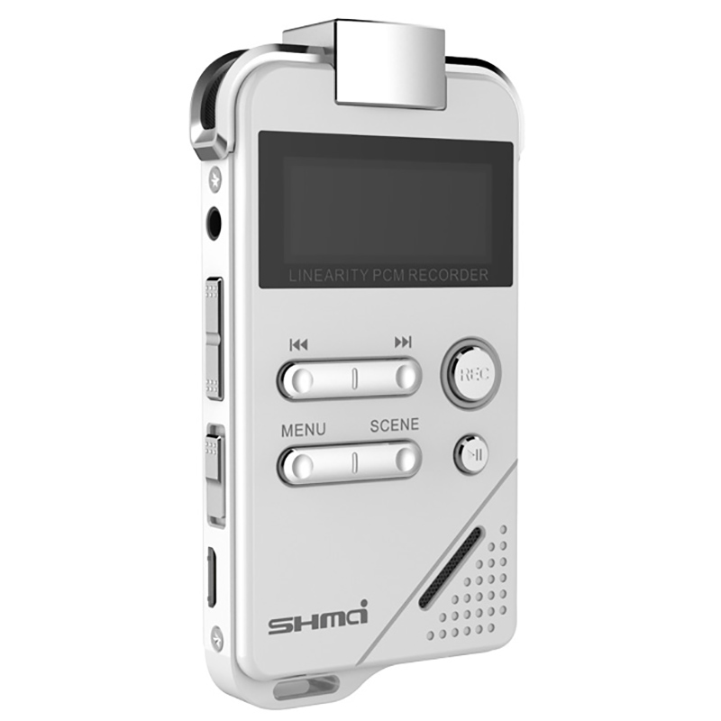 Shmci D30 Professional PCM Digital Voice Recorder mini Dictaphone triple-microphones line in telephone record Hifi MP3 Player