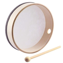 Percussion-Instrument Tambourine-Drum Drumstick Musical-Toy 8inch Wooden Portable