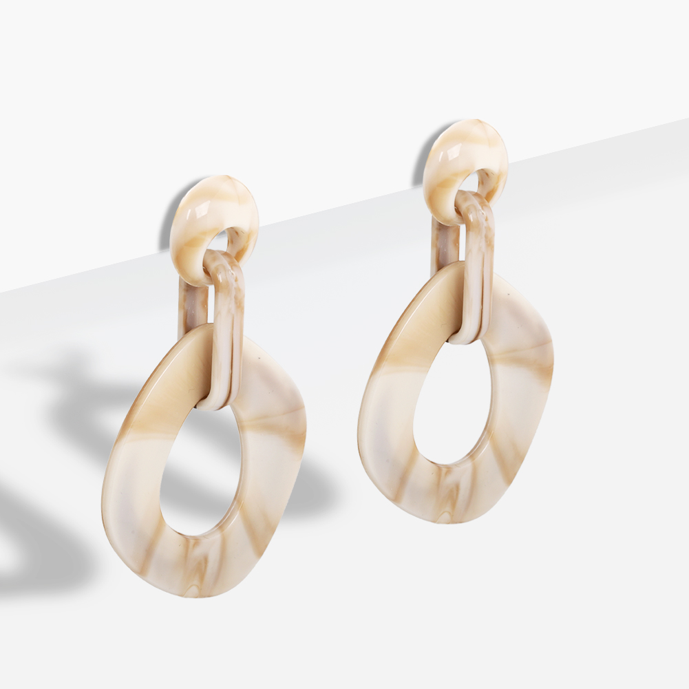 Best lady Elegant Resin Dangle Earrings for Women Girls Round Stars Hollow Out Wedding Korean Earrings Gifts Fashion Jewelry New