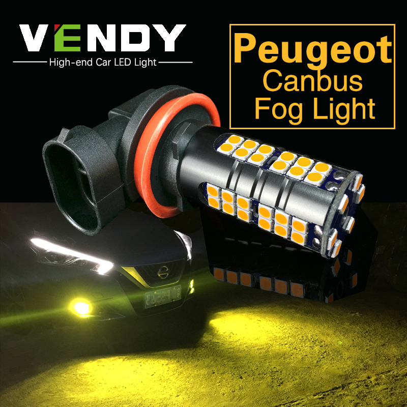 2pcs Car <font><b>LED</b></font> Light For <font><b>Peugeot</b></font> <font><b>206</b></font> 307 407 partner 508 307 sw 406 301 5008 2008 508 207 Lamp H8 H11 H16 9006 HB4 PSX24W H10 9145 image