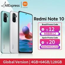 [Lanzamiento mundial En stock] Versión global Xiaomi Redmi Note 10 Smartphone Snapdragon 678 AMOLED Pantalla 48MP cuádruple Cámara 33W