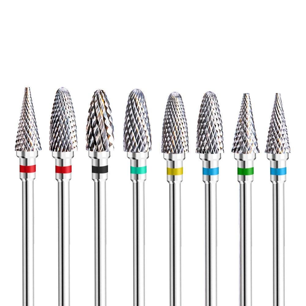 Drill-Bit Machine Nail-Accessory Manicure-Drill Buffer Milling-Cutter Ceramic Tungsten