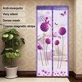Mosquiteiro net cortina ímãs porta malha verão inseto sandfly rede com ímãs na porta mosquiteiro malha tela ímãs