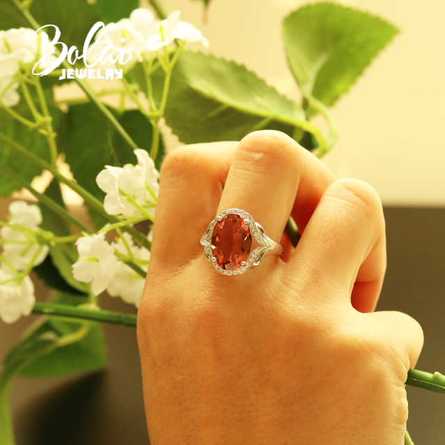 5.5ct color change zultanite Ring diaspore Oval cut 10*14mm created gemstone fine jewelry 925 sterling silver for women bolai
