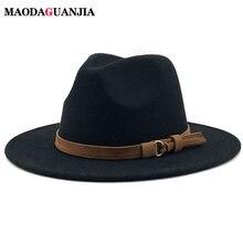 Шляпа федора с кожаной лентой для мужчин и женщин элегантная