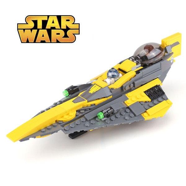 05144 Star Wars Anakin's Jedi Starfighter Anakin Skywalker R2-D2 Building Blocks Brick Compatible With Bela Star Wars 75214
