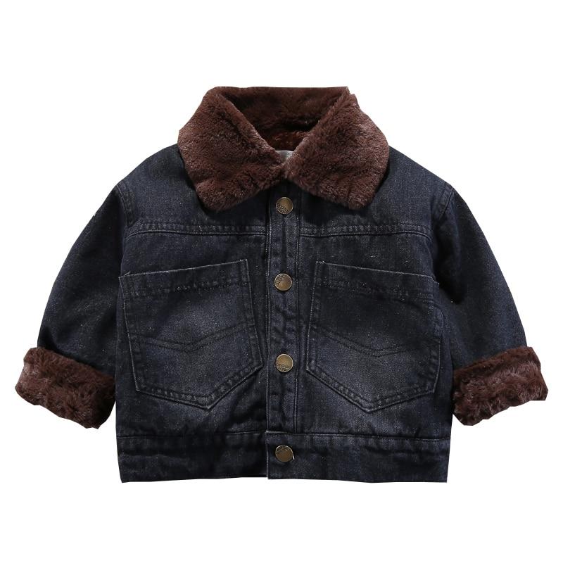 Boys Denim Jacket 2019 Autumn And Winter New Plus Velvet Outwear Thickening Jackets For Childrens
