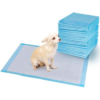 Costway 150 PCS Puppy Pet Pads Dog Cat Wee Pee Piddle Pad Training Underpads (24'' x 36'') 1