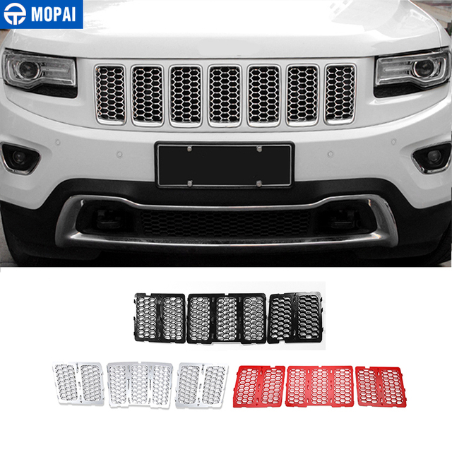 MOPAI Racing Grills for Jeep Grand Cherokee 2014 2016 Car Front Insert Honeycomb Mesh Grille Decoration Cover Car Accessories
