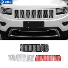 MOPAI rejillas de carreras para Jeep Grand Cherokee, pieza delantera de coche, malla de nido de abeja, decoración, accesorios de coche