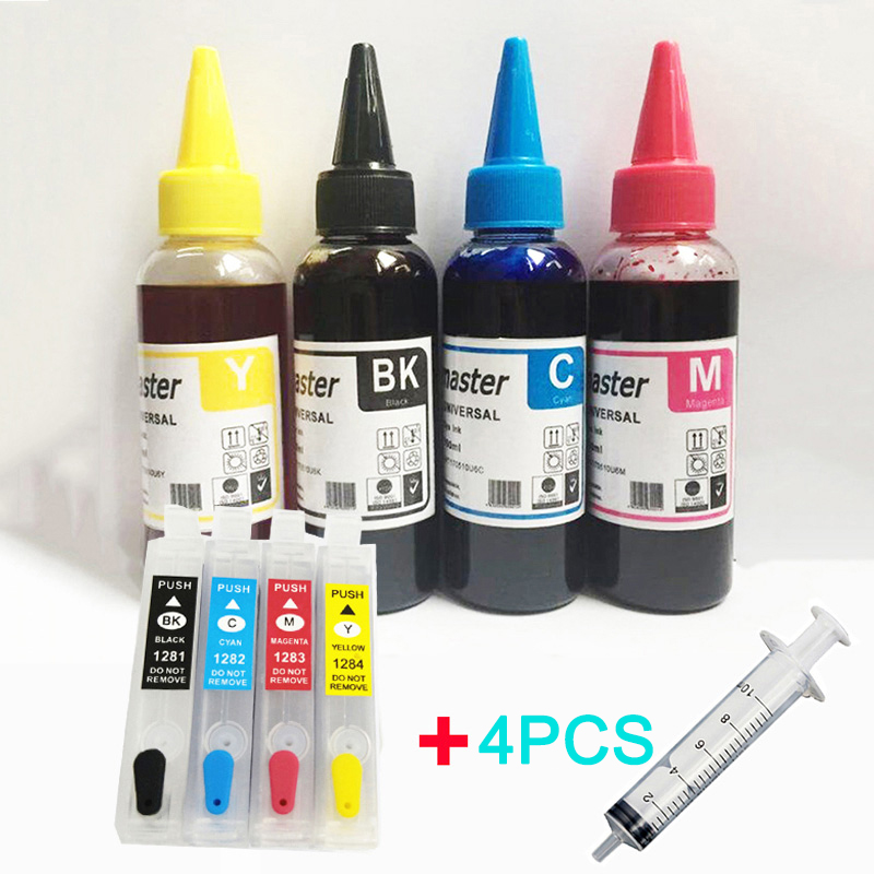 Einkshop Refillable Cartridge T1281 -T1284 And Ink For Epson  Stylus SX125 SX130 SX420W SX235W SX440W SX430W SX425W SX435W SX438