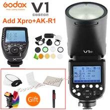 Godox V1 V1S/V1N/V1C/V1O/V1F TTL ליתיום עגול ראש מצלמה מבזק פלאש עבור ניקון/סוני/Canon/Fujifilm/אולימפוס w/ XPRO הדק