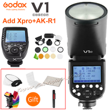 Godox V1 V1S/V1N/V1C/V1O/V1F ttlリチウムイオン丸頭カメラスピードライトニコン/ソニー/キヤノン/fujifilm/オリンパスw/xproトリガー