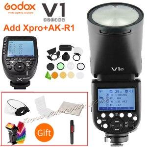 Image 1 - Godox V1 V1S/V1N/V1C/V1O/V1F ttlリチウムイオン丸頭カメラスピードライトニコン/ソニー/キヤノン/fujifilm/オリンパスw/xproトリガー