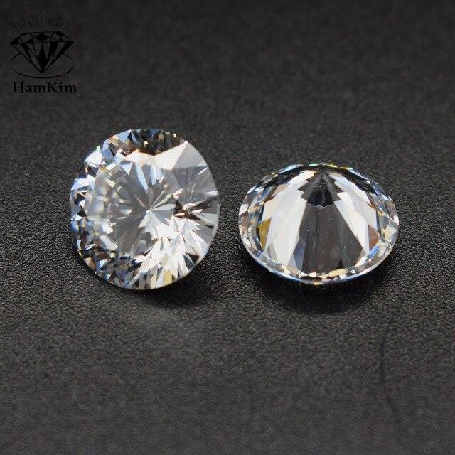 Wong Rain 1 PCS Top Quality Round Cut Created Moissanite Loose Gemstone DIY Stones Decoration Fine Jewelry Wholesale Lots Bulk