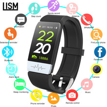 Smart Watch ECG + PPG Sleep Monitor Fitness Tracker Blood Pressure Waterproof Smart Bracelet Bluetooth Sports Pedometer pk V8 Y1(China)