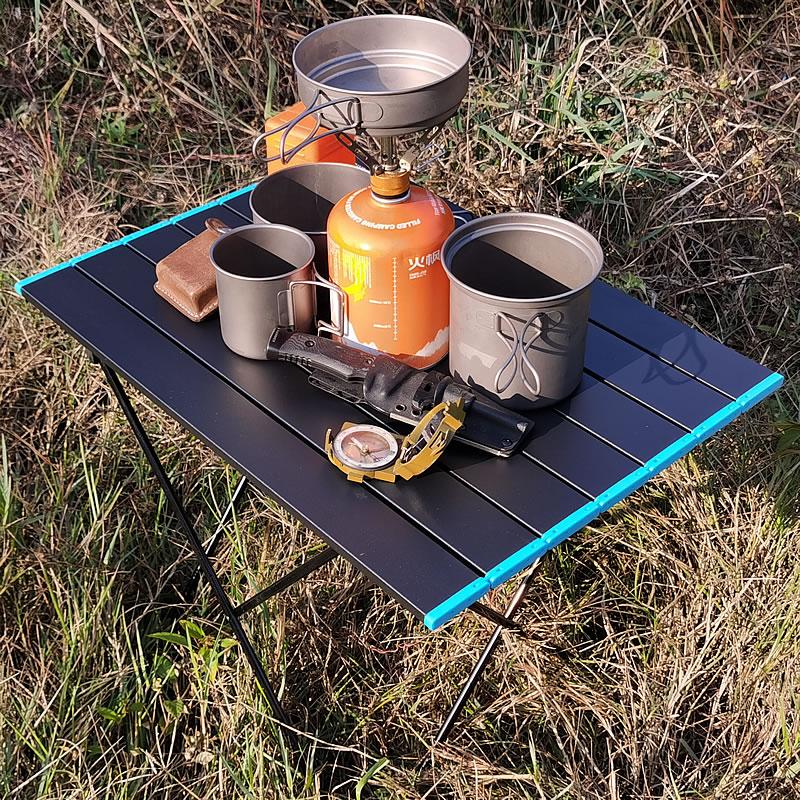 Folding Tables Candy-Light Color-Desks Picnic Outdoor Aluminum BBQ L-Size