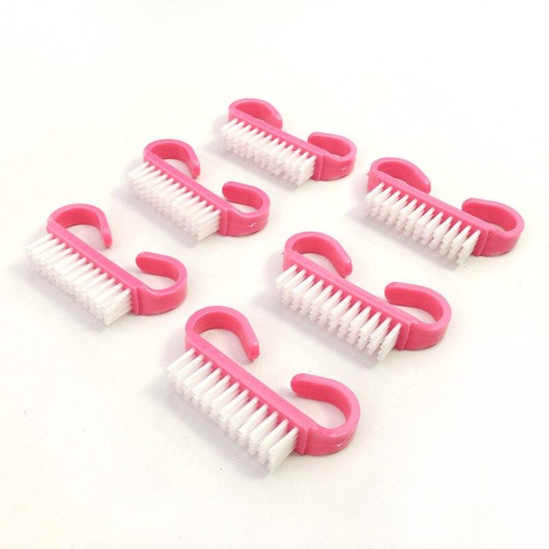 100 pc rosa prego escova de limpeza 04