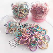50/100 Pcs/Box New Children Cute Colors Soft Elastic Hair Bands Baby Girls Lovely Scrunchies Rubber Bands Kids Hair Accessories(China)